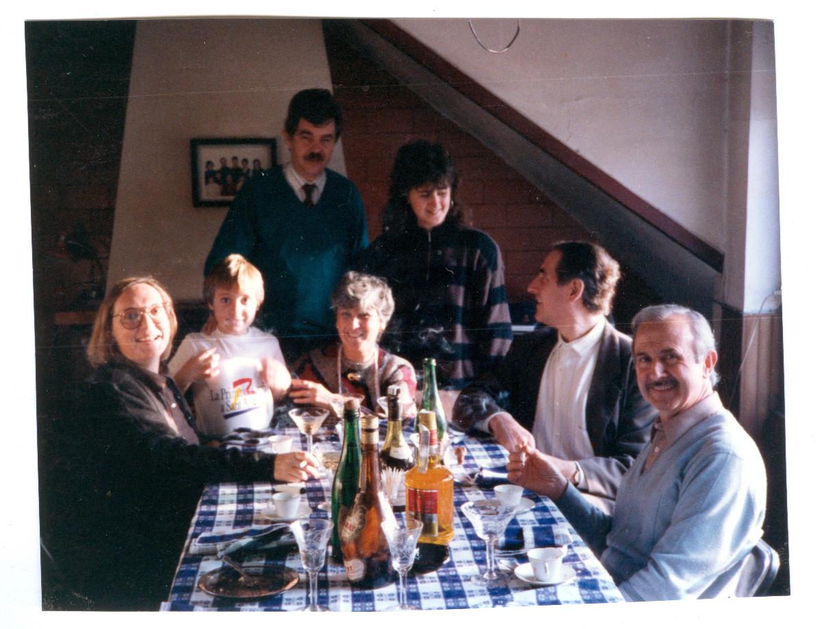 Pasqual Maragall i Diana Garrigosa a casa dels Catalán, 1989.