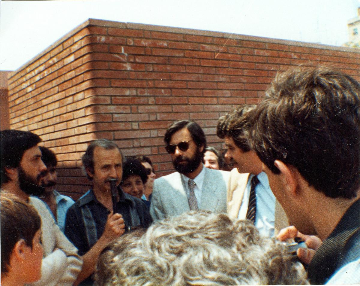 Inauguració de les piscines CEM Trinitat Vella, 1984.