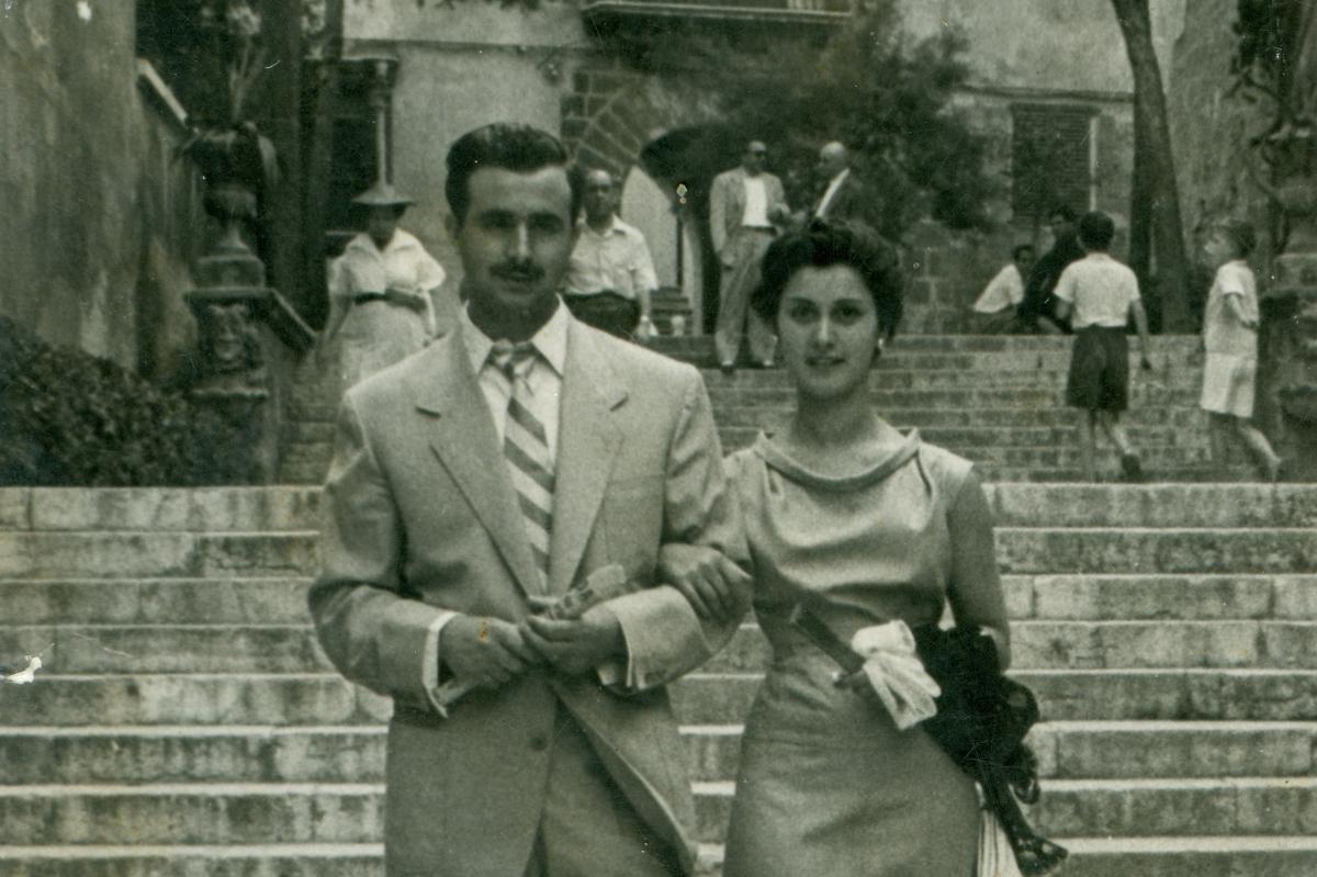 Viatge de noces a Mallorca, 1954.